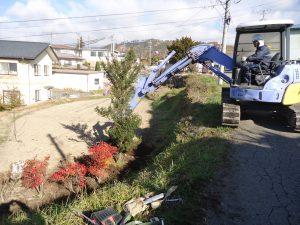 庭工事・巨石破砕・石積み